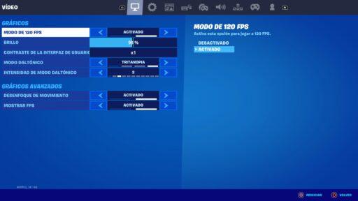 Modo 120 FPS Fortnite