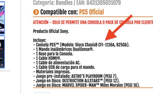PS5 CHASIS B CFI-1116A