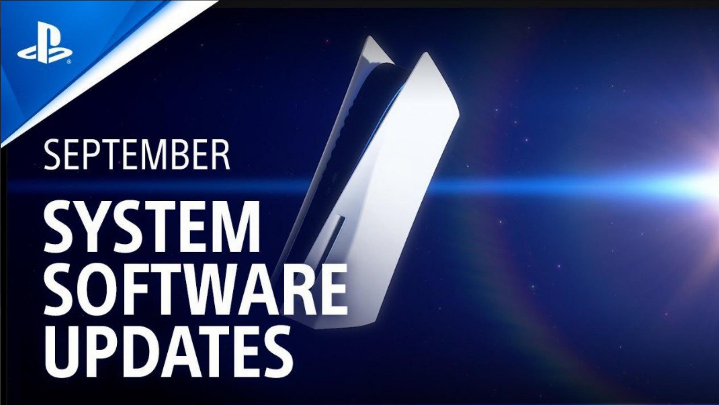 Software update PS5SEPTEMBER