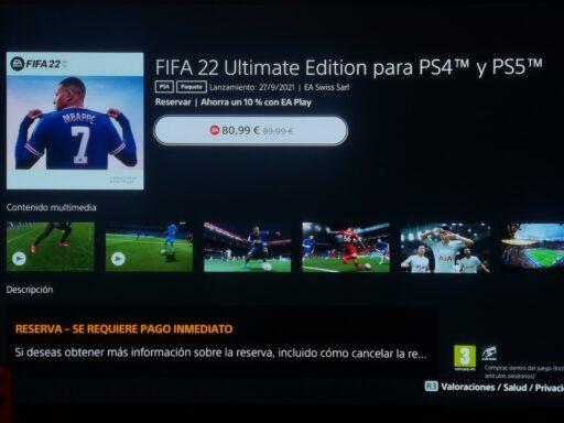 FIFA 22 RESERVA ULTIMATE EDITION
